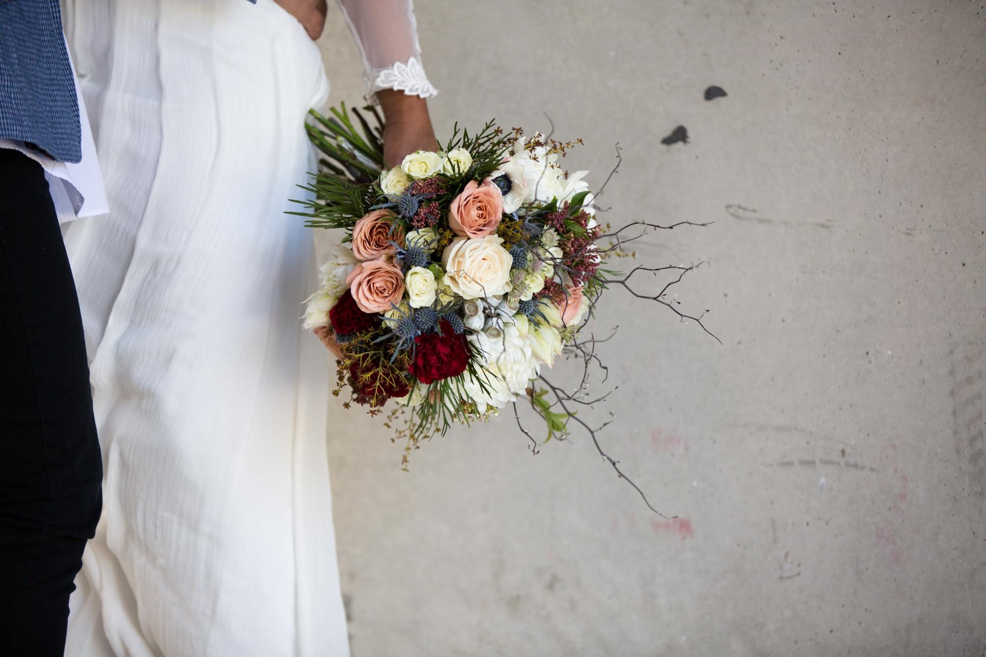 Cool and unique bridal bouquet